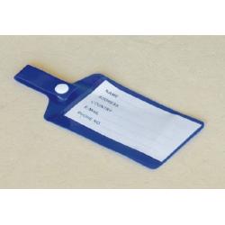 blue pvc Luggage Tag