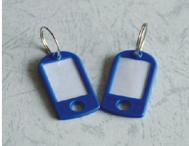 4.7*2.5*0.3cm blue Key Chains