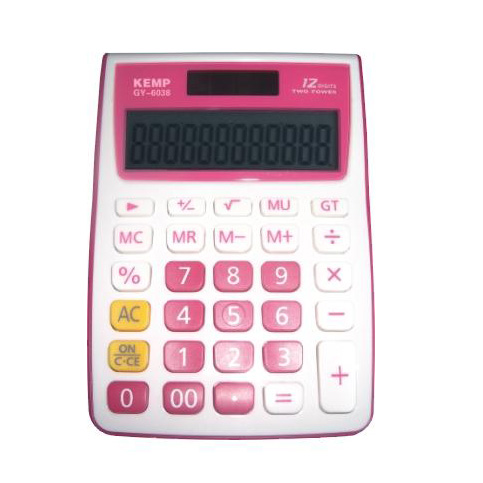 12 digits pink Calculator