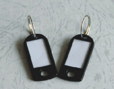 black plastic Key Chains